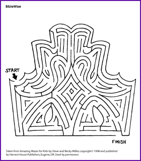 esther the queen (story and maze) - kids korner - biblewise ... - Esther Bible Story Coloring Pages