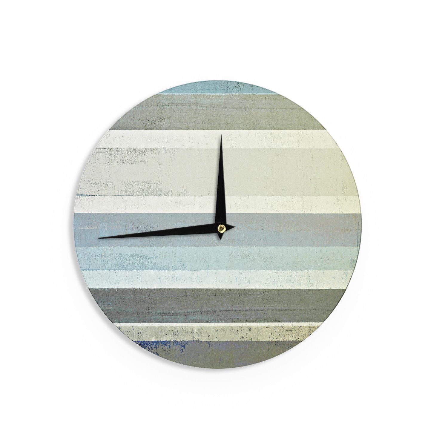 CarolLynn Tice No Limits Teal Brown Wall Clock Brown wall clocks
