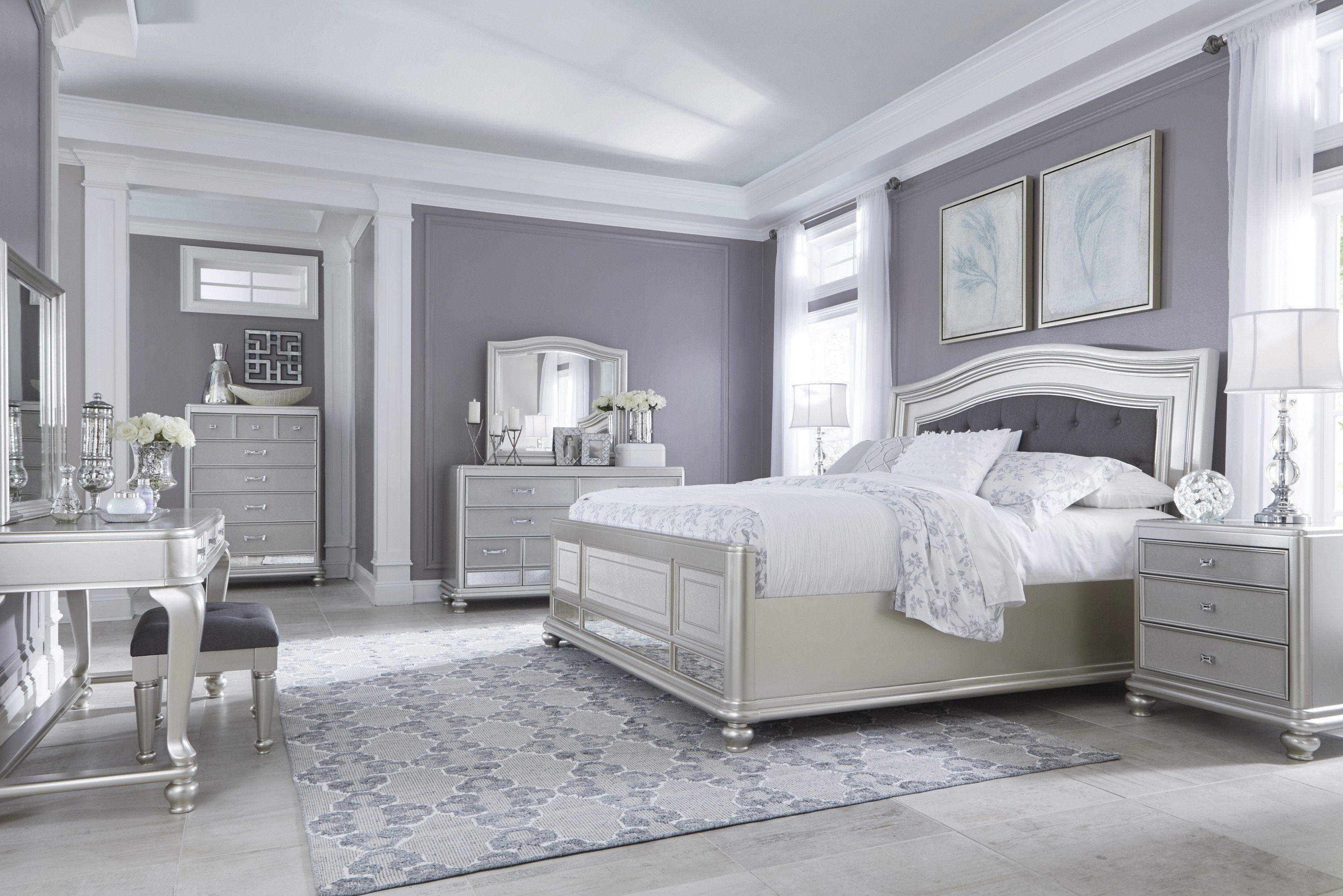 Coralayne Dresser Silver bedroom