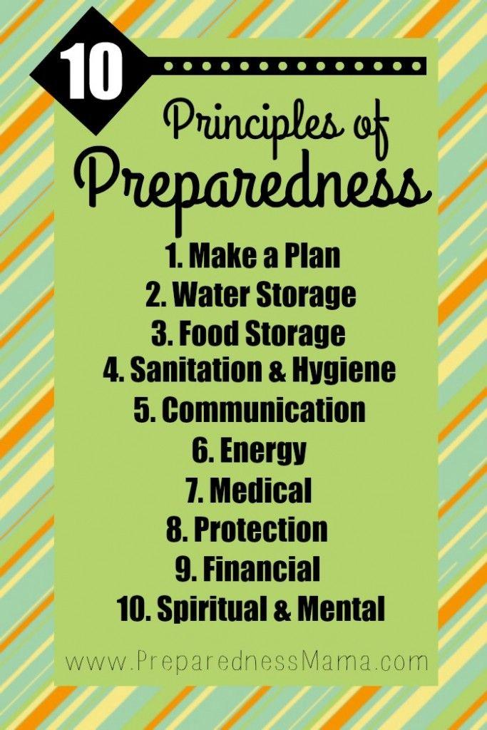 It's your self-reliant foundation. The 10 Principles of Preparedness. | PreparednessMama