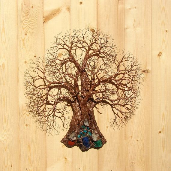 16 inch Wire Tree Of Life sculpture wall decor, Ancient Grove Tree ...