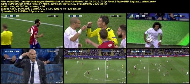 Full Match Real Madrid Vs Atletico Madrid Champions League Final