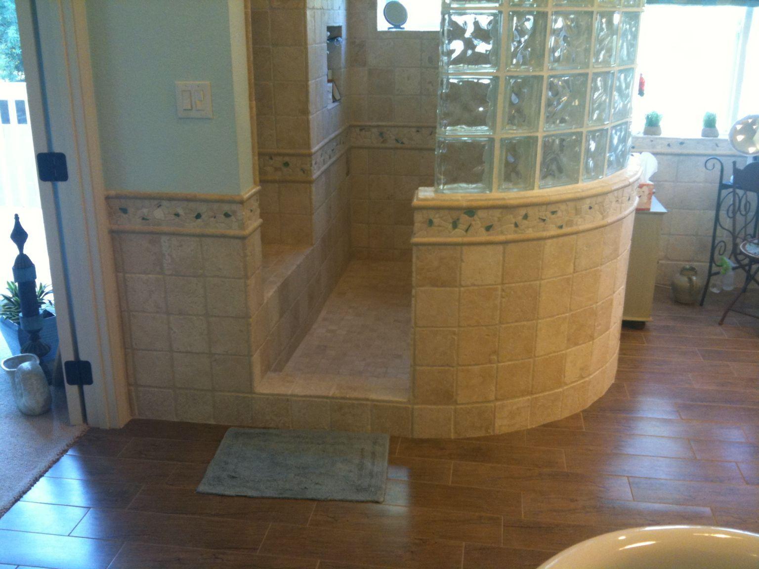 Image Detail For  Open Walk In, Custom Shower Design