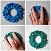 Easy Crochet Scrunchy pattern by Rebeckah Ferger #crochetscrunchies