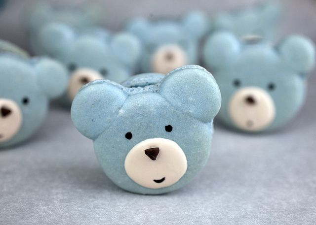 Blue Bear Macarons by Bakerella, via Flickr