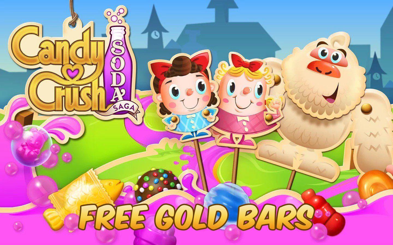 How To Get Free Candy Crush Soda Saga Unlimited Gold Bars 2019 Candy Crush Soda Saga Soda Saga Free Candy