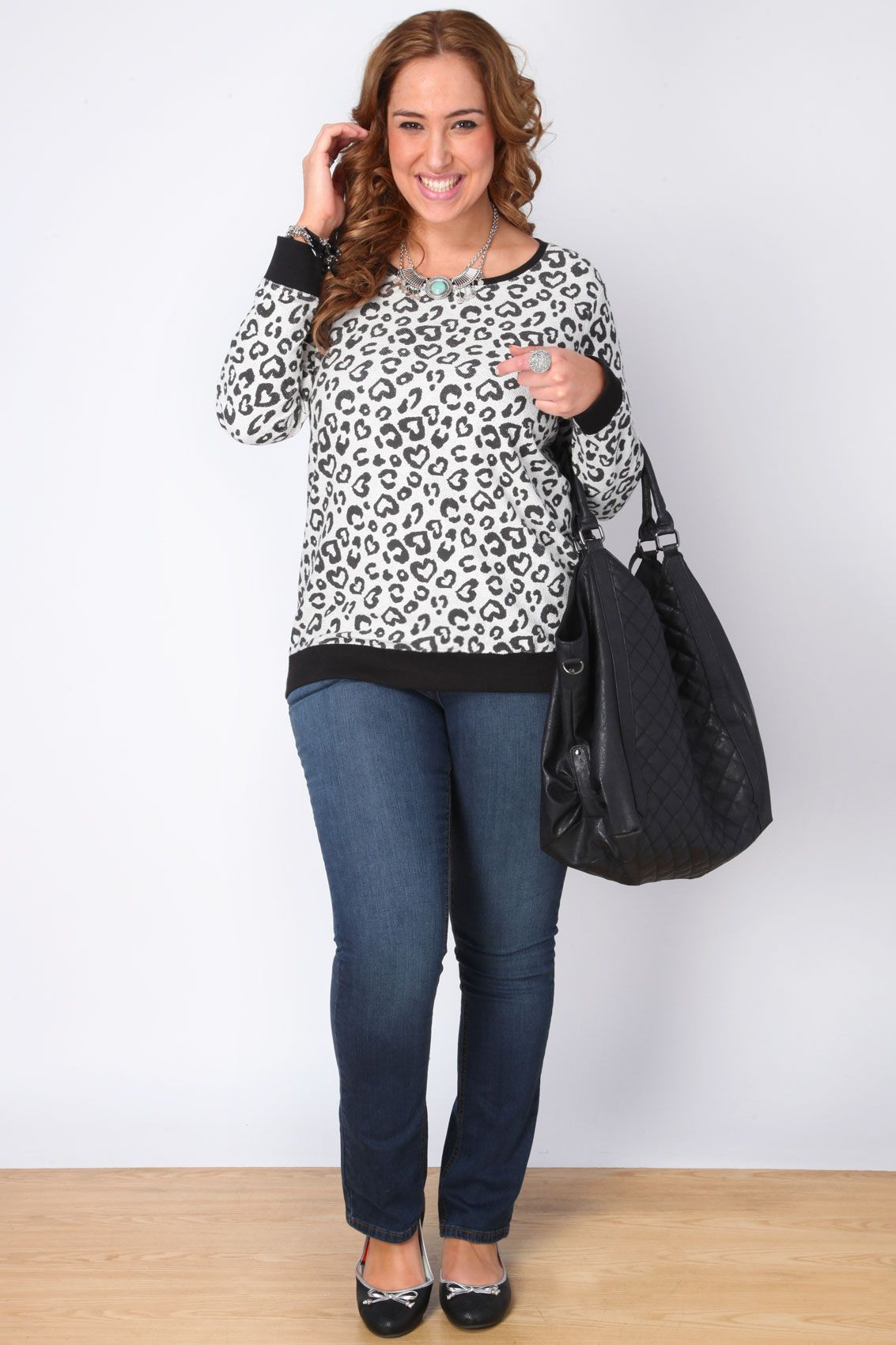 Yours Clothing Womens Plus Size Animal Print Top