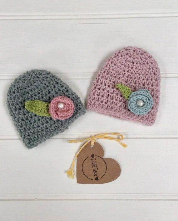 Preemie baby hat/newborn baby hat/premature baby hat/baby beanie/preemie hat/newborn flower hat/preemie flower hat/premie hat #premiebabyhats