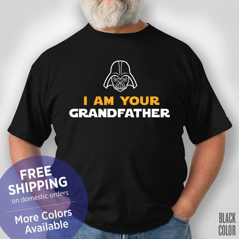 I Am Your Grandfather - Star Wars Grandpa - Retirement Gift Grandpa - Christmas Gift for Papa - Funny Tshirt - Grandpa Birthday Gift #grandpabirthdaygifts