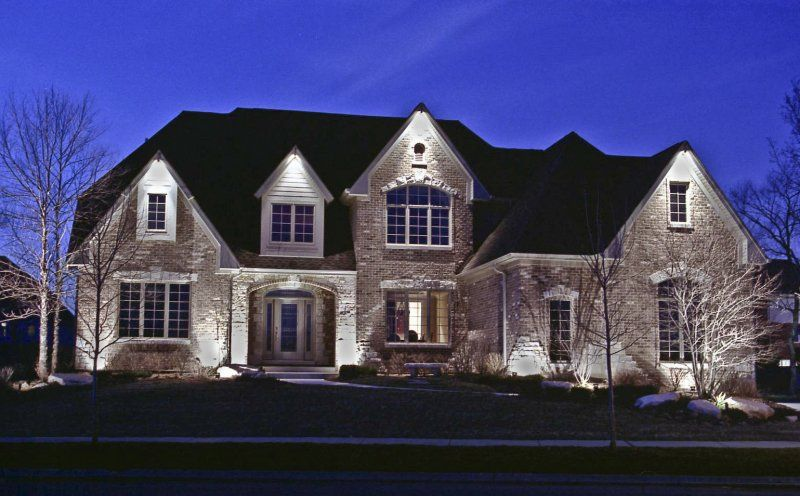Outdoor accent lighting if you need some landscaping done for Outside home lighting