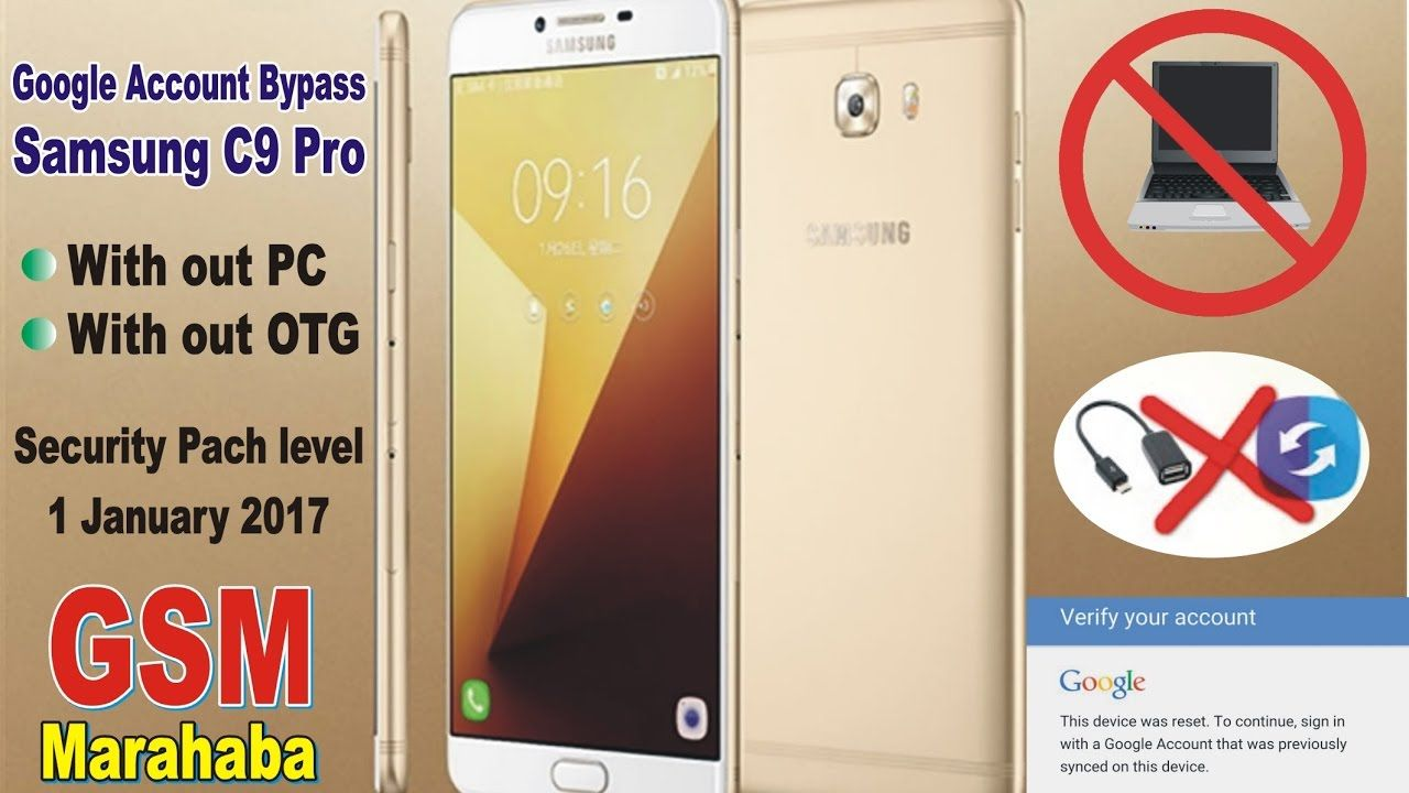 Google Account Bypass Samsung C9 Pro FRP Bypass Without PC