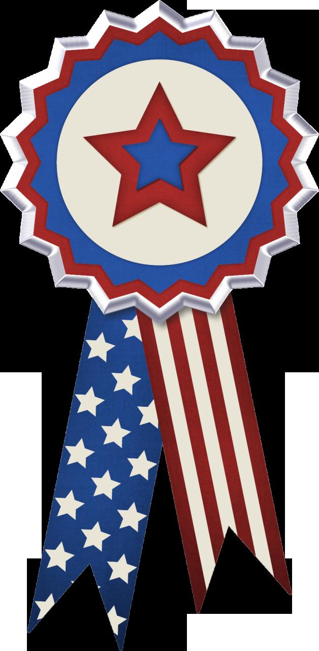 USA Flag Ribbon Decor PNG Clipart Picture | Patriotic ...