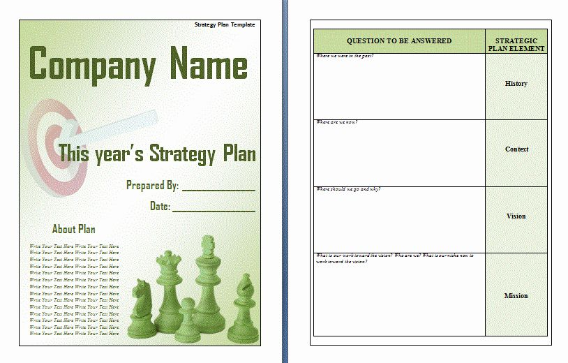 Simple Strategic Plan Template Best Of Strategic Plan