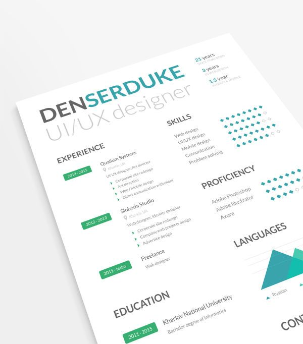 Free Resume Template With Business Cards  Design Resumes