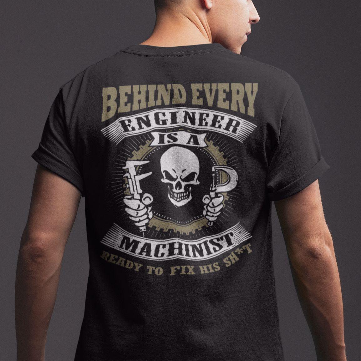 Machinist Because Engineers Need Heroes Gildan Tee T-Shirt Cotton Crew neck