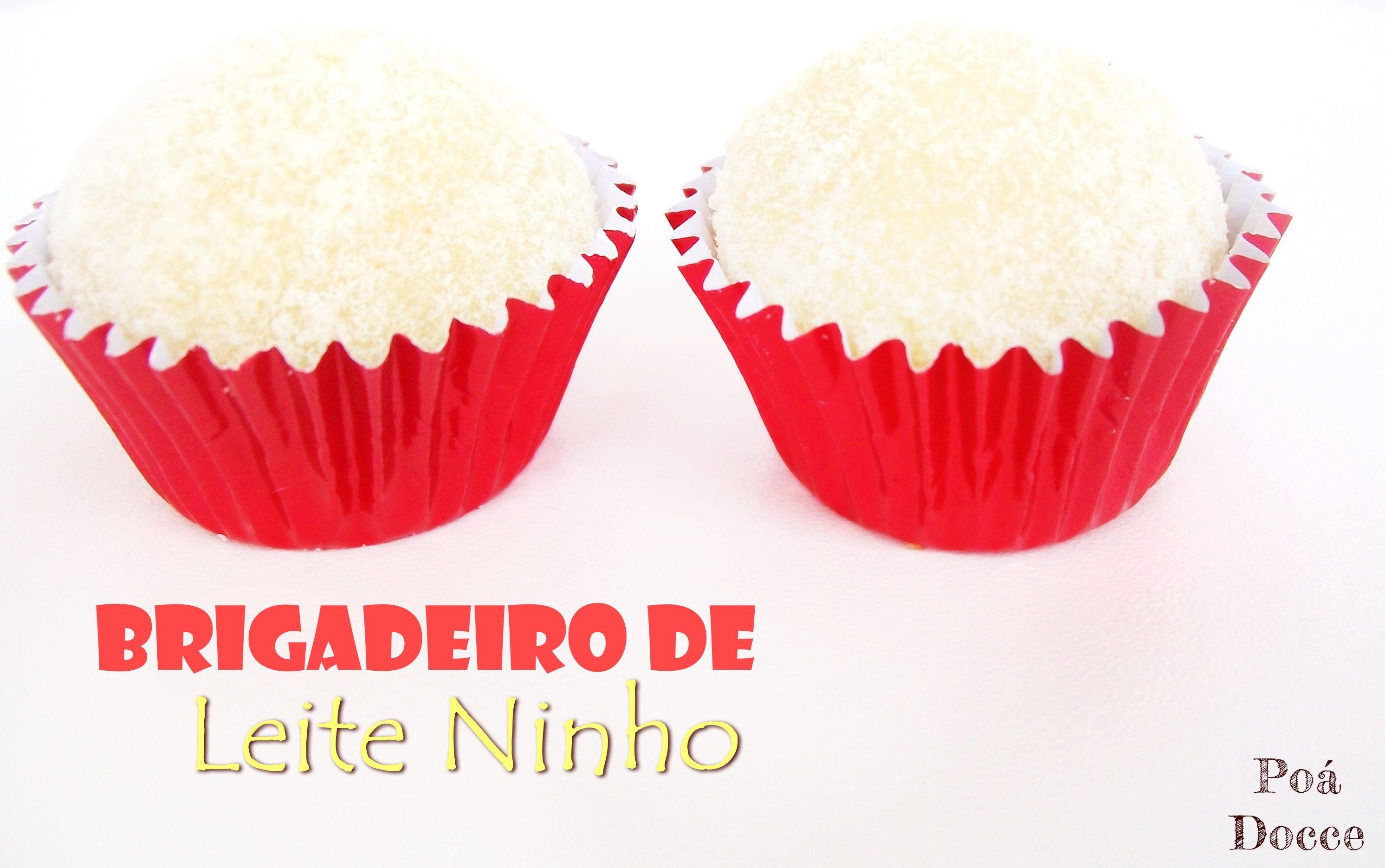 Brigadeiro de Leite Ninho - Delicioso brigadeiro feito e coberto com leite Ninho.