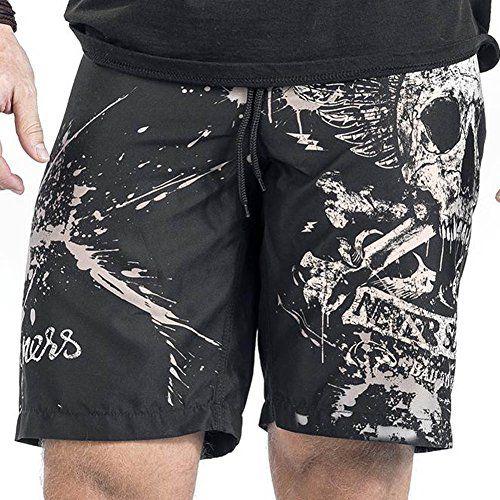 1bb482a030 Bocaoying Mens Skull Print Swim Trunks Casual Beach Surfing Board Shorts # shorts #jeans #casual #clothing #mens