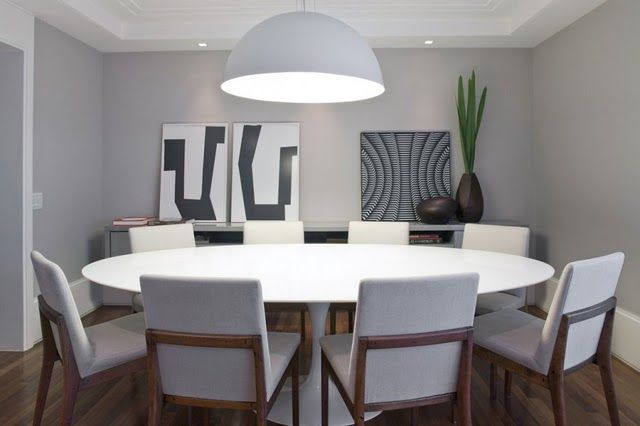 Artesanato Indigena Onde Comprar ~ Salas de jantar com mesa oval Mesa oval, Cores cinza e Cadeiras de madeira