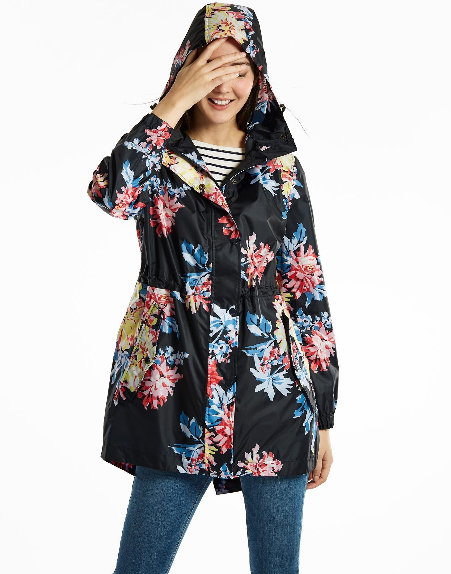 554a205bc85 Golightly Navy Whitstable Floral Waterproof Jacket