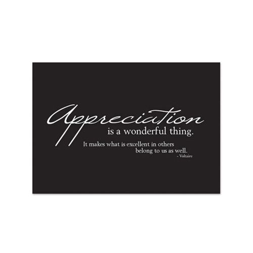 Thank You Card With Appreciation Quote On The Ball Promotions