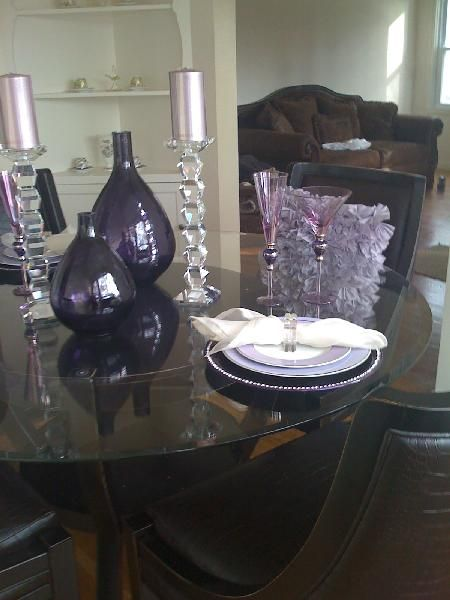 Dining Rooms Purple Z Gallery Lavender Ashley Furniture Dining Room Chocolate Leather Table Purple Dining Room Dining Table Centerpiece Purple Decor