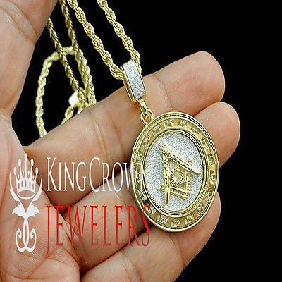 Mens yellow gold finish free mason g compass masonic pendant fashion necklaces pendants ebay aloadofball Gallery