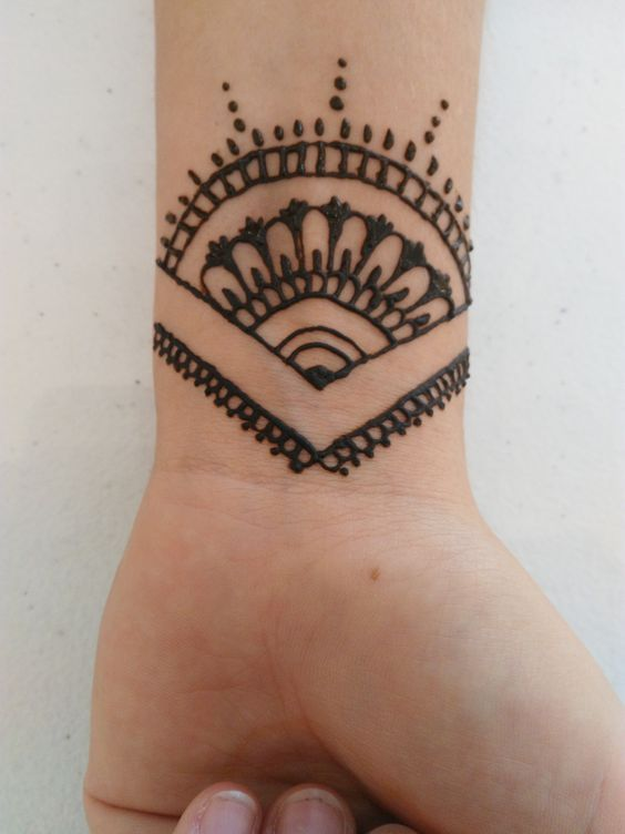 Simple Henna Wrist Designs For Beginners: Simple Wrist Tattoos Henna Tattoo Ideas Hand Simple And