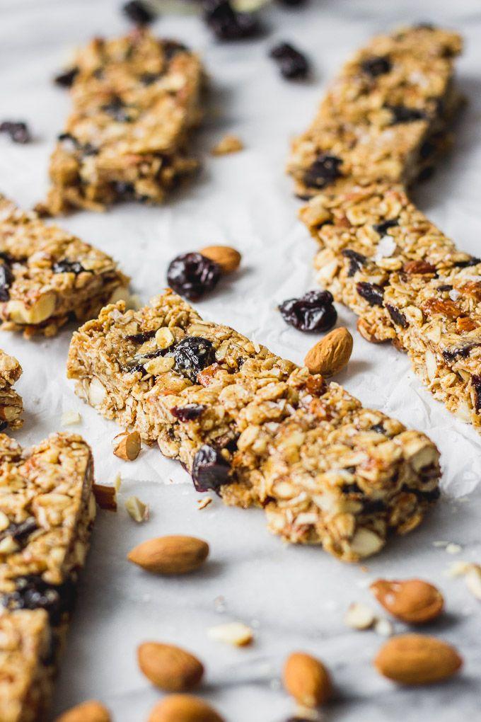 Cherry Almond Granola Bars | Recipe in 2020 | No bake ...
