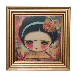 Little Frida Kahlo framed print