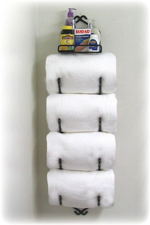 Space- Saving Bathroom Towel Rack Decorating Ideas | Pinterest ...