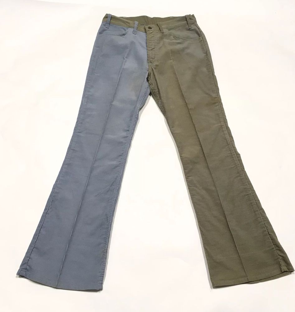 5d550d00 High waisted. Rare cool 1970s Levi's have 2 different color legs, Blue and  Green! | eBay!