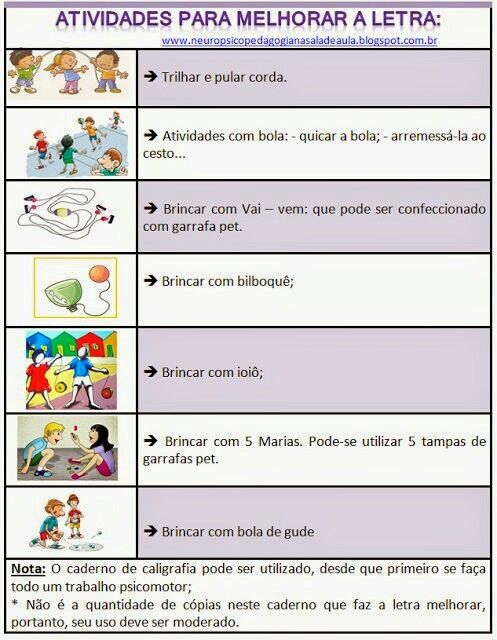 Atividades Para Melhorar A Letra Atividades Educacao Letras