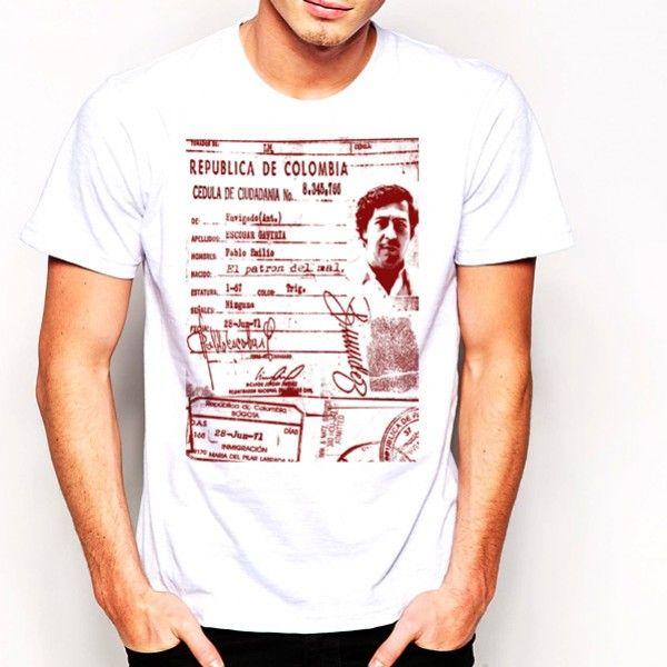 Pablo Escobar Original Gangster Graphic Tee Short Sleeve Funny 3D Print T-Shirt