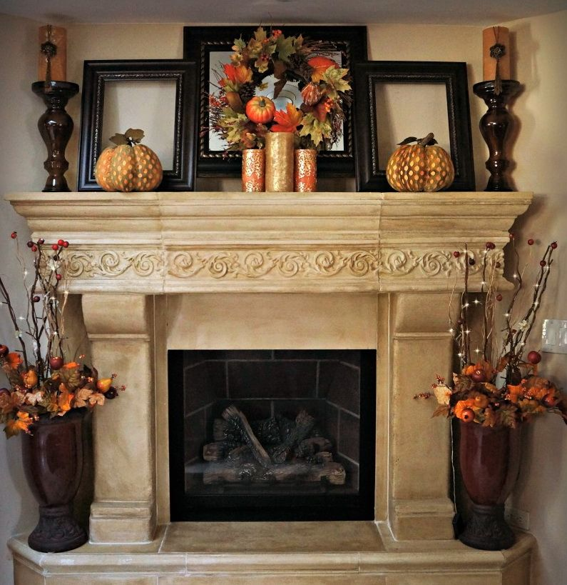 Fall Fireplace Mantel Decorating Ideas: Elegant & Amazing Fall Decoration
