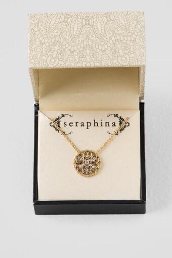 Seraphina Filigree Heart Pendant Necklace