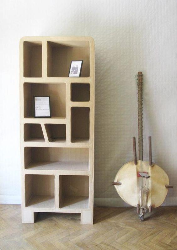 muebles de carton reciclado paso a paso para comedor - Buscar con ...