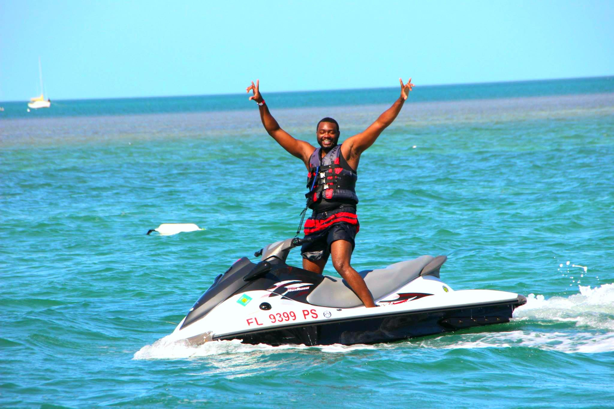 Cheers nothing better than a day spent on a jet ski in
