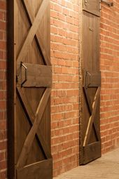 Wooden sliding door to the stable. Tailored in style, saving…