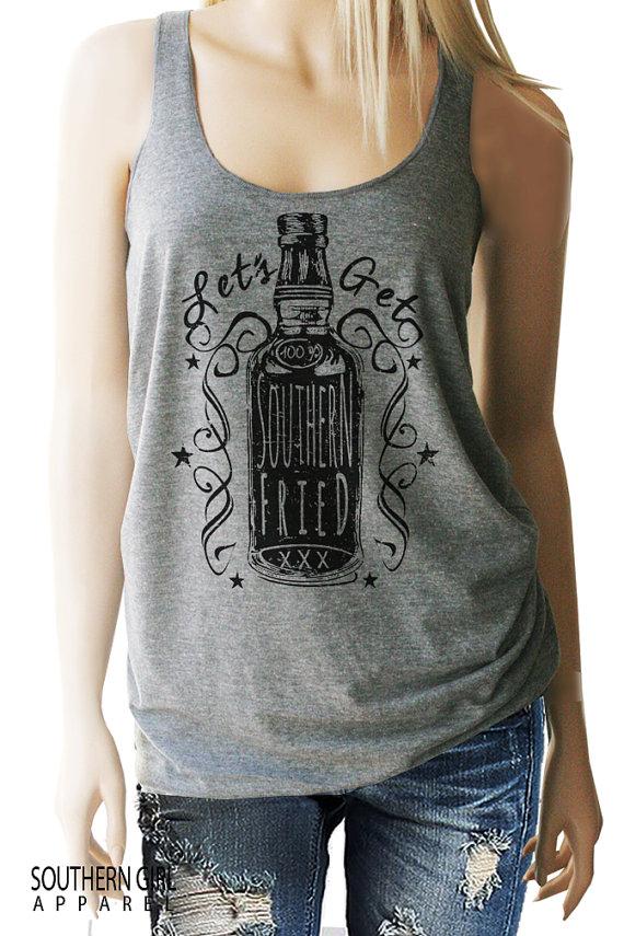 Southern Fried. Whiskey Drinking Shirt. Southern Shirts. | Etsy