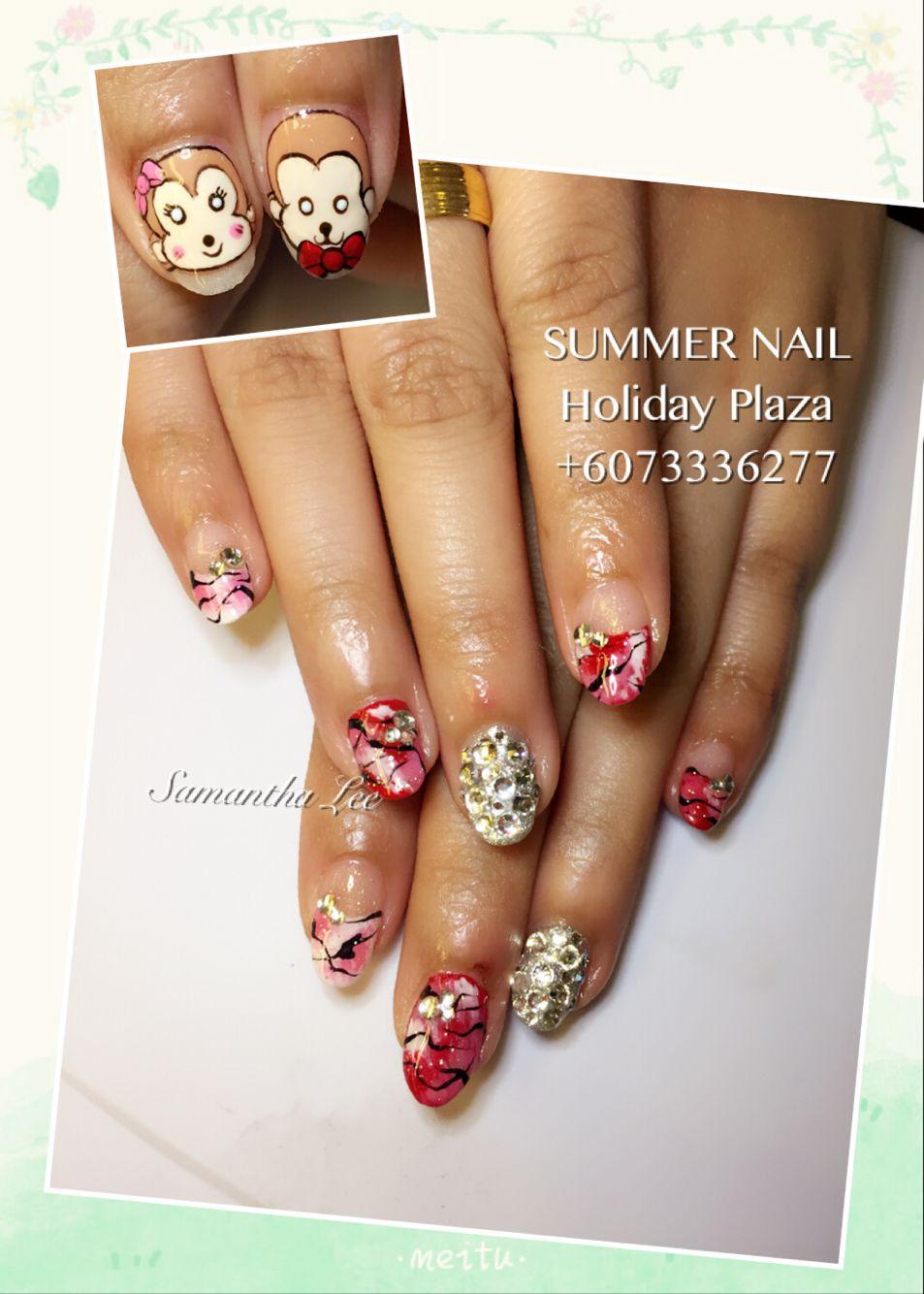 Summer Nail Holiday Plaza Mcdonald S Upstairs 3rd Floor 6073336277 Whatsapp 60163188359 Instagram Summerna Summer Nails Bridal Nails Holiday Nails