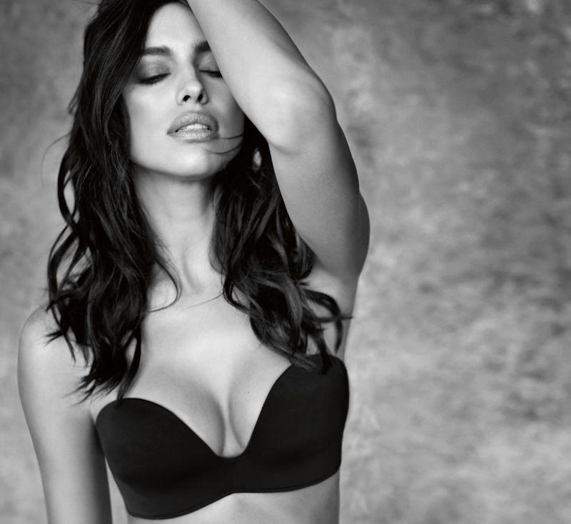 Irina Shayk Stuns in Black & White for Intimissimi's ...