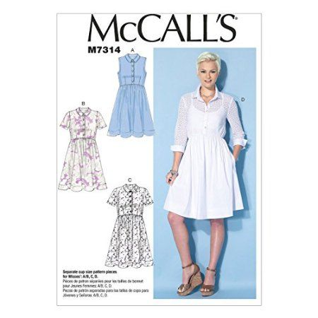 Free Shipping Buy McCall's Patterns M40 Misses' Shirtdresses Gorgeous Walmart Dress Patterns