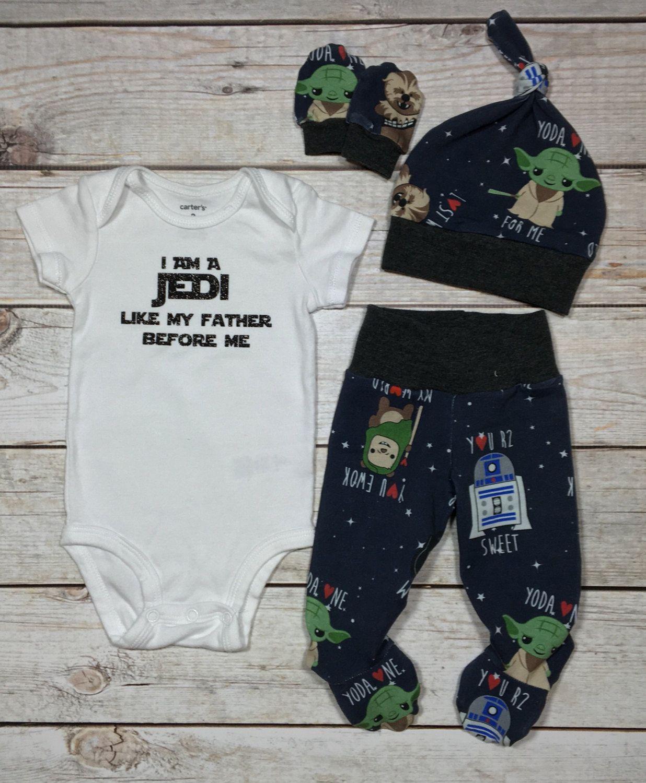 LAST SET! star wars newborn set, going home outfit, jedi baby set, newborn baby boy set, newborn nerdy set, newborn boys vinyl onesie set