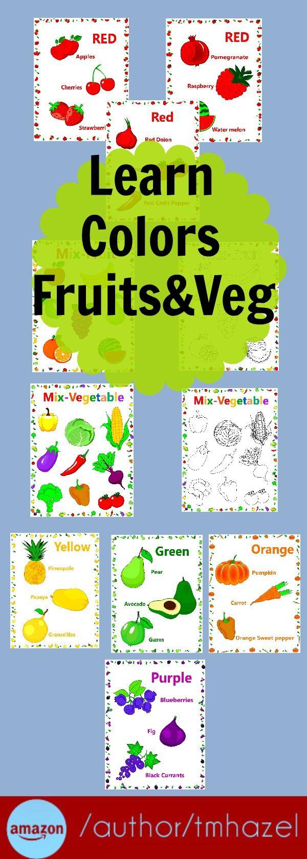 Learn Colors, Fruits&Veg!!! preschool activities, learning, children ...