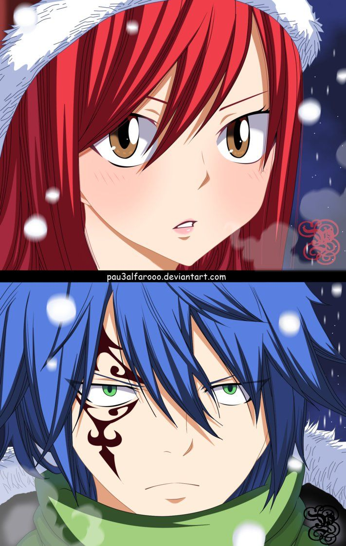 Erza y Jellal -Omake- Fairy Tail Christmas by Pau3AlfarOoO   Anime ...