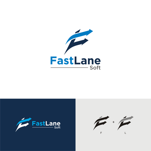 Fast Lane Soft Software Outsourcing Company Fast Lane Soft Looking For A Logo Design This Is A Logo For An Outsourci Logo Design Personal Logo Poster Design