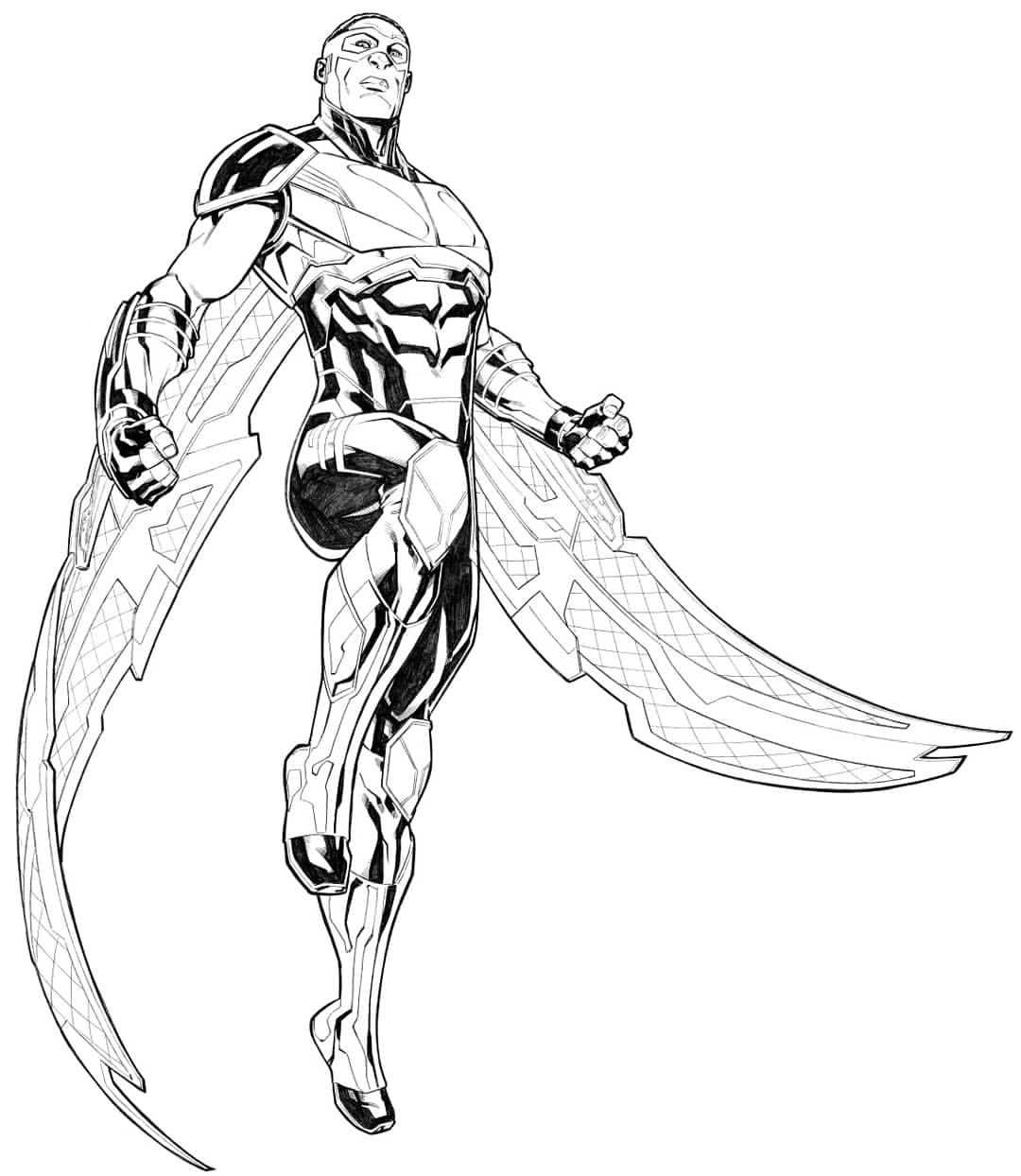 marvel falcon coloring pages - photo#24