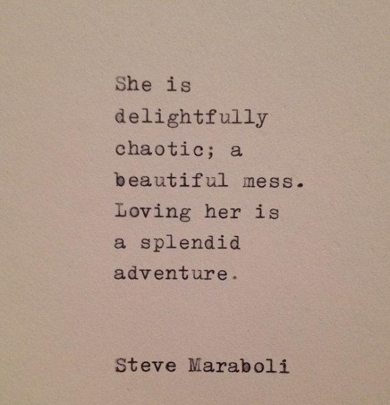 Steve Maraboli Love Quote Hand Typed on Vintage Typewriter | Etsy