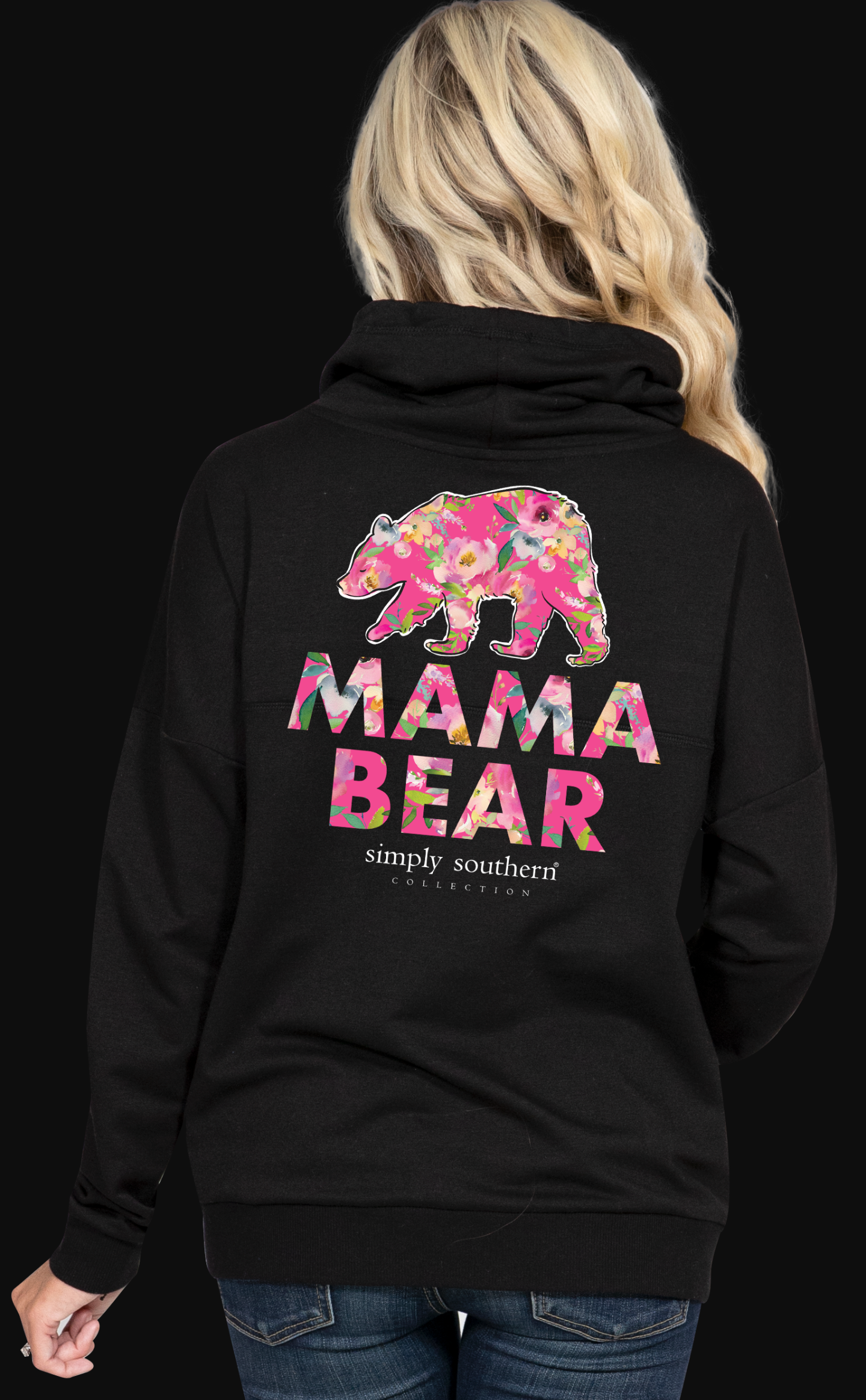 b1d4dbbfdc5 Simply Southern Mama Bear Cowl Neck Sweatshirt