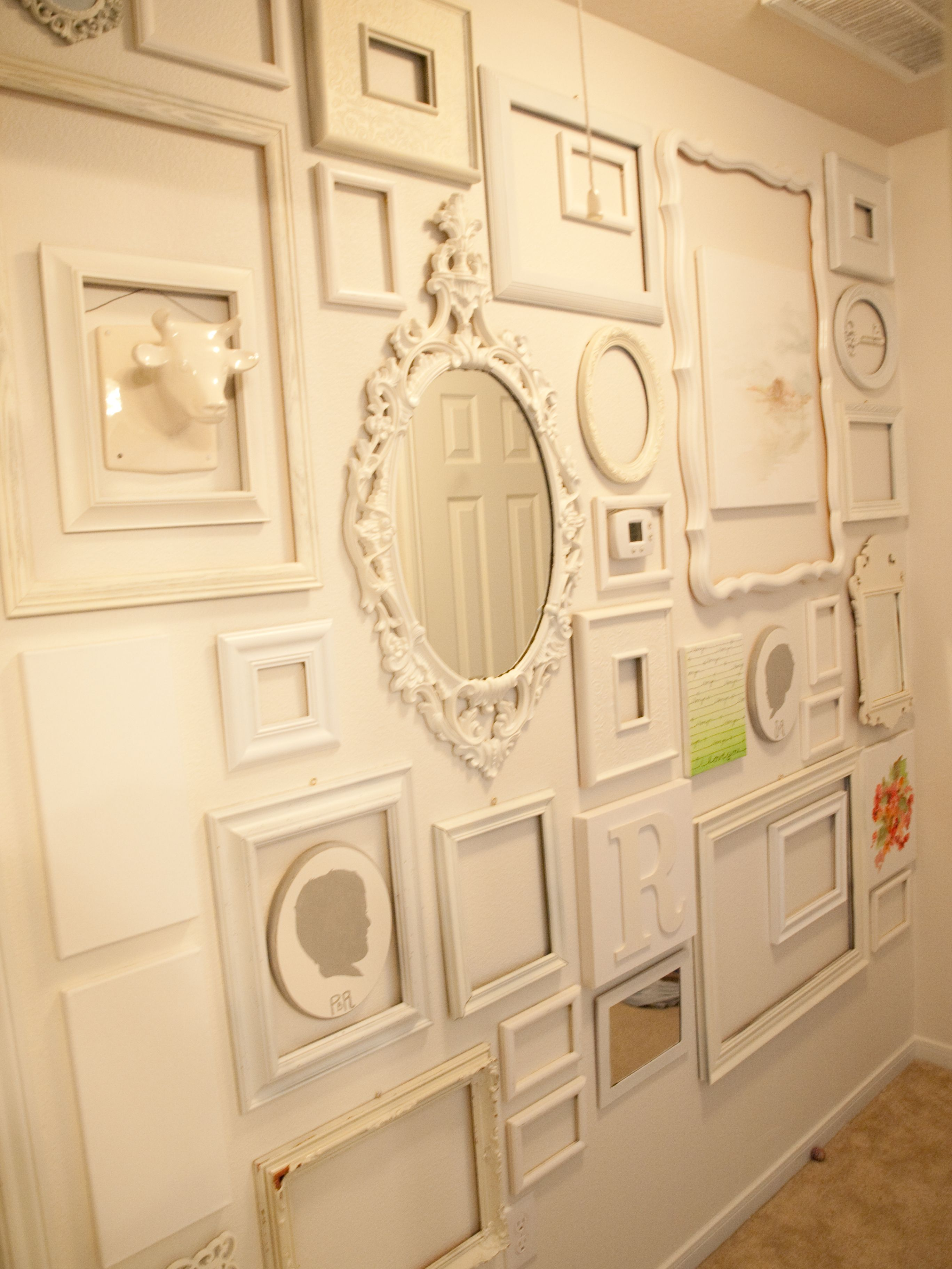 Do something like this, but in red frames with the tan wall in the ...